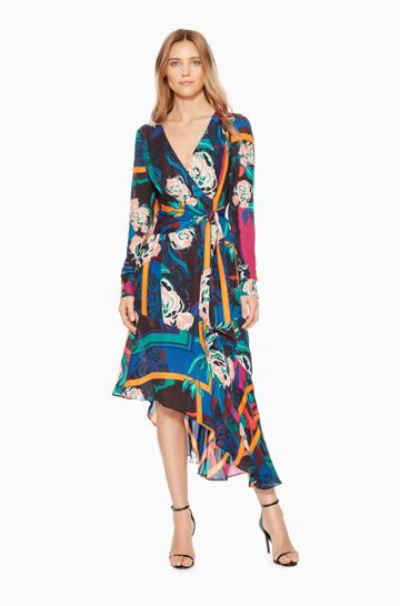 Parker Ny Lorelei Floral Dress