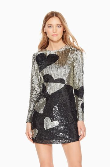 Parker Ny Axel Sequined Heart Dress