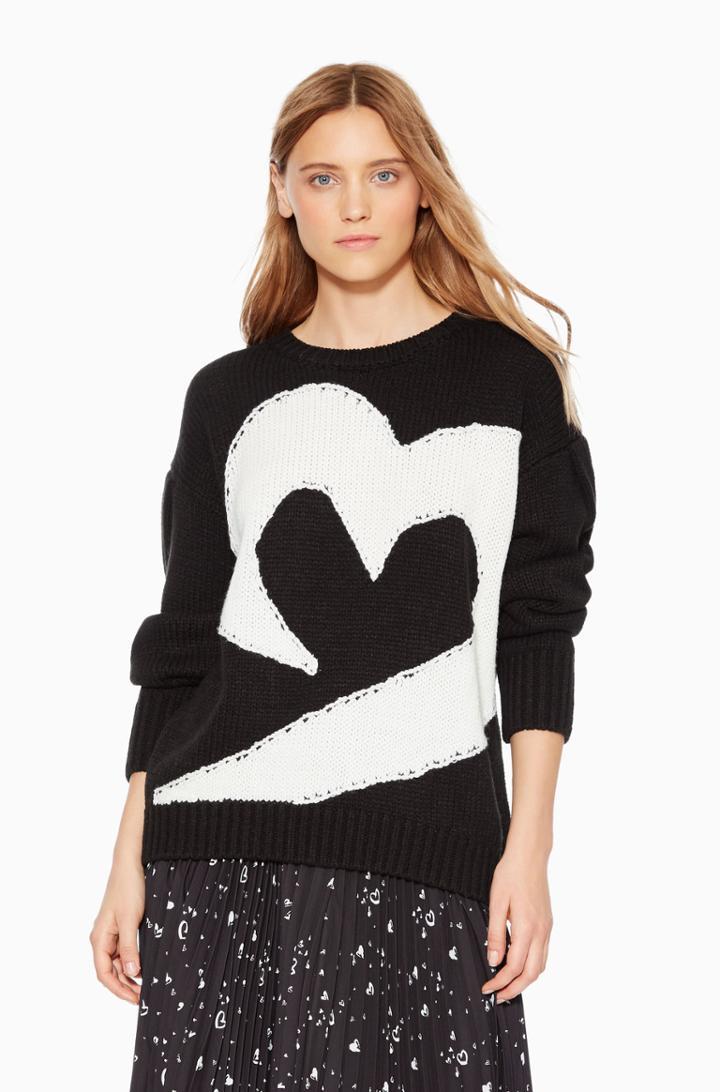 Parker Ny Olive Heart Sweater