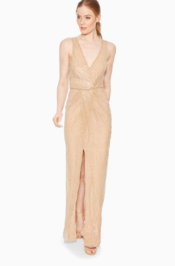 Parker Ny Monarch Beaded Dress