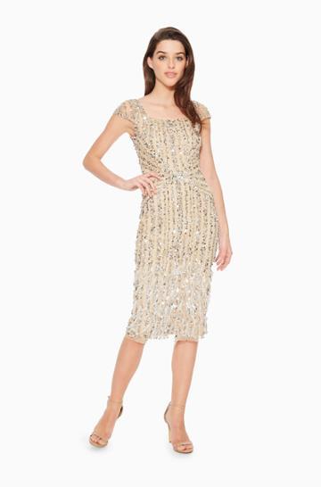 Parker Ny Rosana Beaded Dress