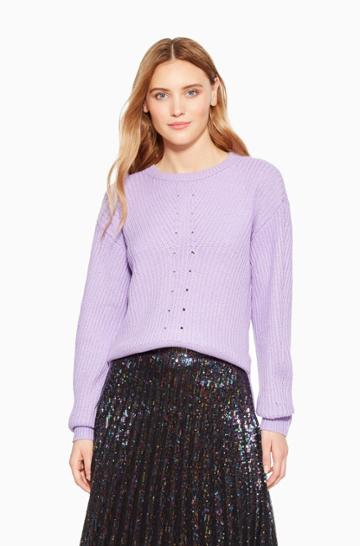 Https:/www.parkerny.com/ronnie-sweater/p8kba30.html Parker Ny Ronnie Sweater Lavender, Size Xxs