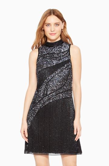 Https:/www.parkerny.com/courtney-dress/b8j4974nvc.html Parker Ny Courtney Cocktail Dress Black Multi Sequin, Size 0