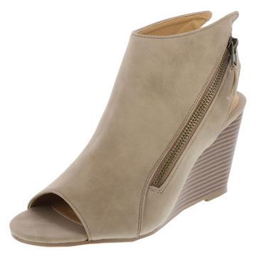 Brash Women's Steely Peep-toe Wedge