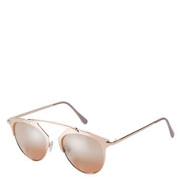 Minicci Women's Mirrored Taj Round Sunglasses