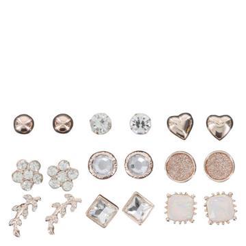 Minicci Women's (9 Pk) Fall Stud Earrings Set