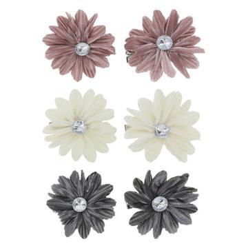 Minicci Women's (6 Pk) Velvet Flower Hair Clips