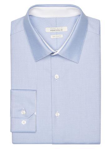 Perry Ellis Very Slim Oval Dobby Dress Shirt