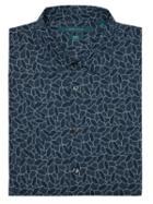 Perry Ellis Short Sleeve Cactus Print Shirt