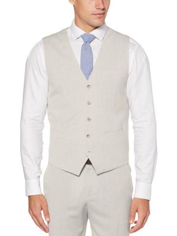 Perry Ellis Slim Fit End-on-end Suit Vest