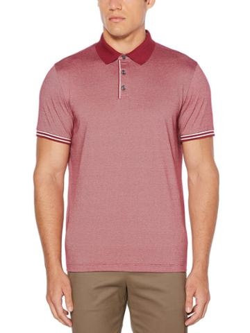 Perry Ellis Contrast Striped Polo