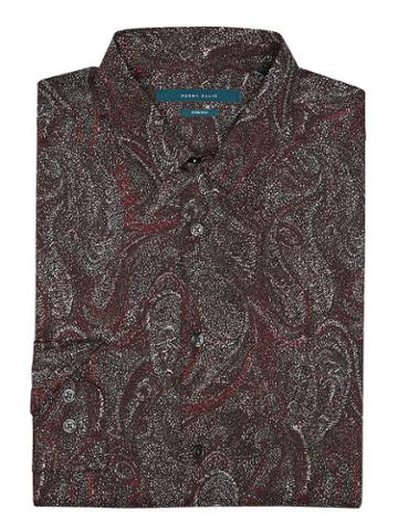 Perry Ellis Big &tall Speckled Paisley Shirt