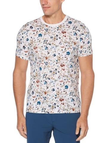 Perry Ellis Pima Cotton Floral Polo
