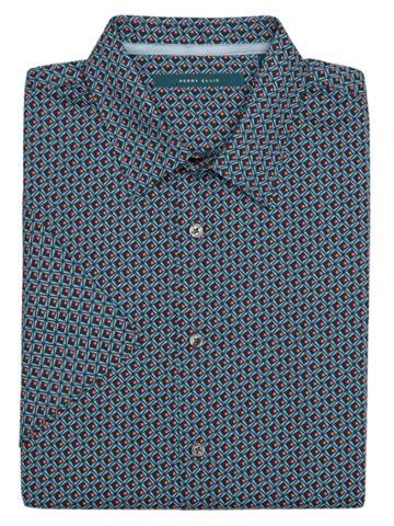 Perry Ellis Big And Tall Short Sleeve Deco Shirt