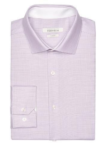 Perry Ellis Slim Fit Lilac Nailhead Dress Shirt