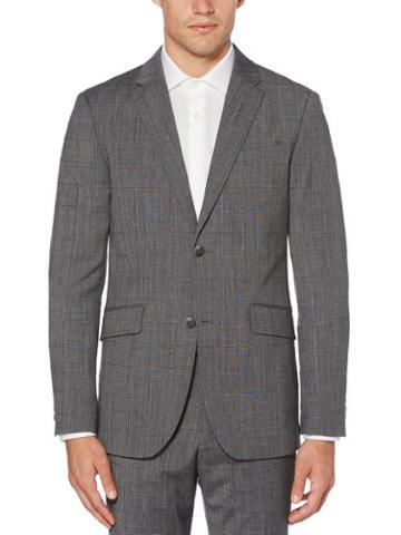Perry Ellis Slim Fit Stretch Wool Plaid Suit Jacket