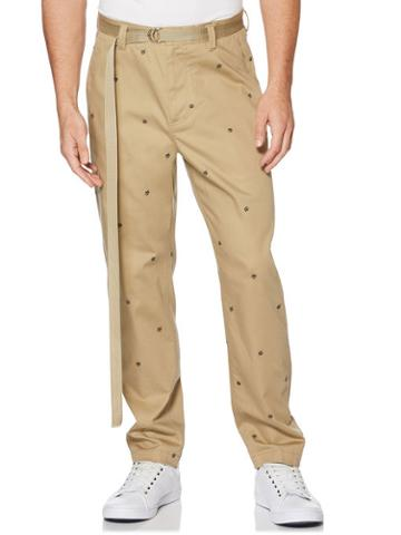 Perry Ellis Embroidered Chino