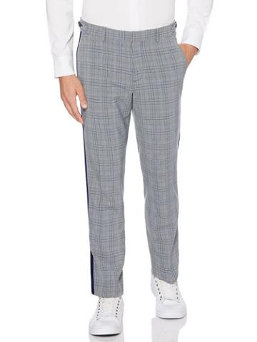 Perry Ellis Slim Fit Stretch Plaid Dress Pant