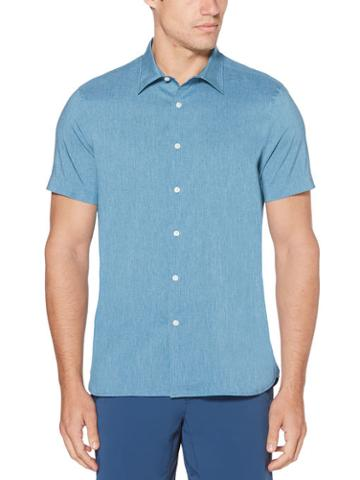 Perry Ellis Total Stretch Slim Fit Heather Shirt