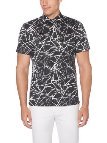Perry Ellis Abstract Linear Soft Shirt