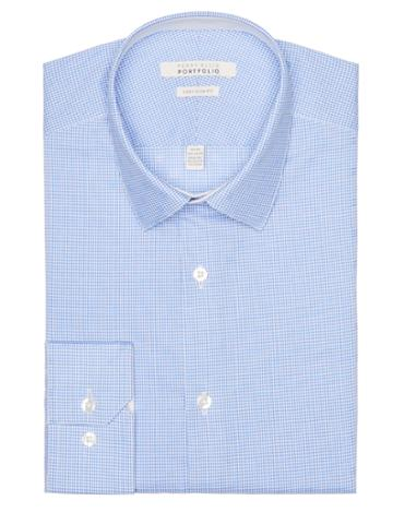 Perry Ellis Very Slim Gingham Dress Shirt