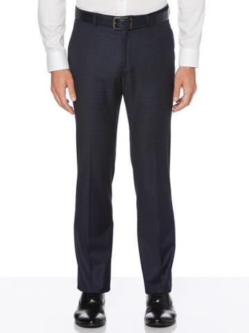 Perry Ellis Slim Fit Plaid Washable Suit Pant