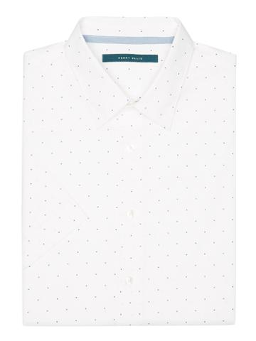 Perry Ellis Big And Tall Short Sleeve Scattered Dot Shirt