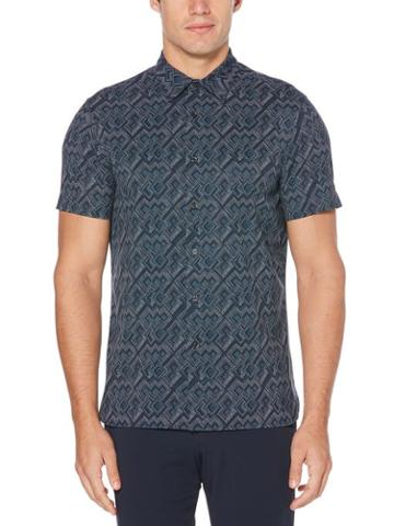 Perry Ellis Geometric Dot Shirt