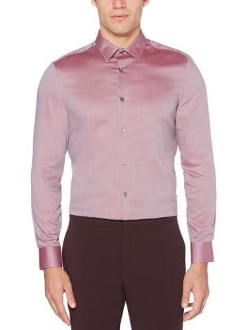 Perry Ellis Resist Spill Slim Fit Dobby Solid Shirt