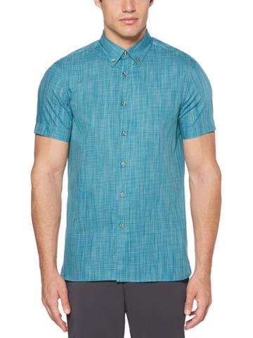 Perry Ellis Short Sleeve Space Dyed Shirt