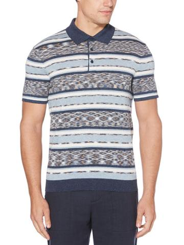 Perry Ellis Space Dyed Polo Sweater