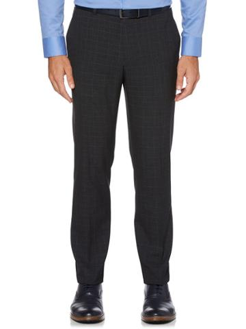 Perry Ellis Slim Fit Tonal Plaid Suit Pant