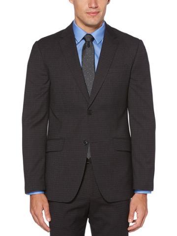 Perry Ellis Slim Fit Heathered Check Suit Jacket