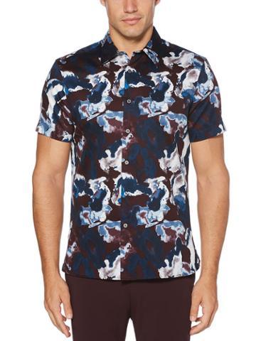Perry Ellis Slim Fit Watercolor Shirt