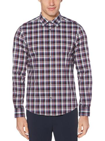 Perry Ellis Untucked Check Stretch Shirt