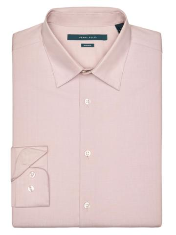 Perry Ellis Big And Tall Non-iron Iridescent Twill Shirt