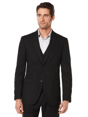 Perry Ellis Big And Tall Solid Bedford Suit Jacket