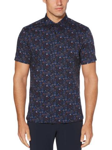 Perry Ellis Circle Print Stretch Shirt