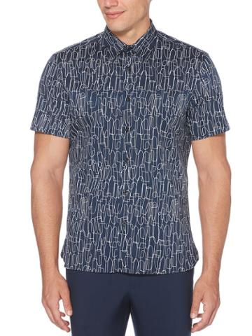 Perry Ellis Abstract Scribble Soft Shirt