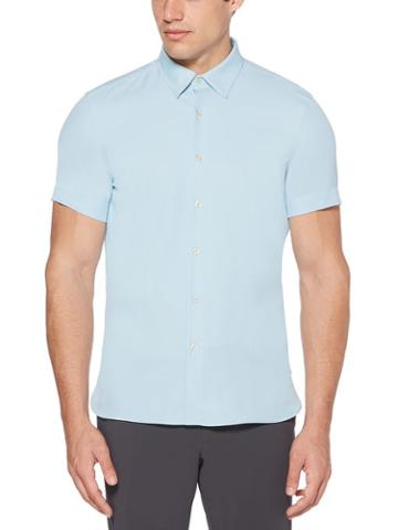 Perry Ellis Short Sleeve Twill Solid Shirt