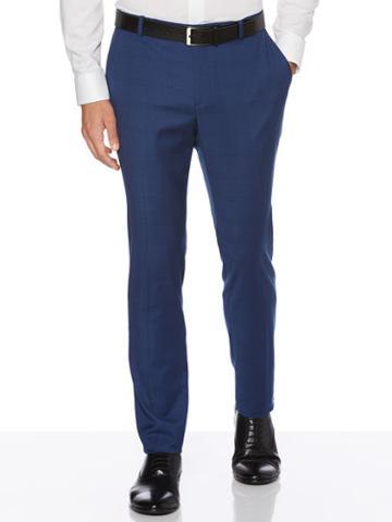 Perry Ellis Very Slim Fit Plaid Suit Pant