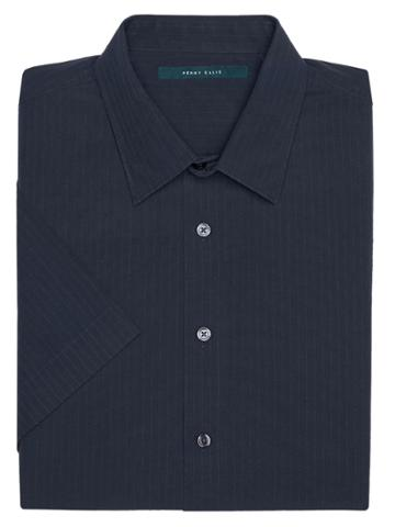 Perry Ellis Short Sleeve Horizontal Linear Shirt