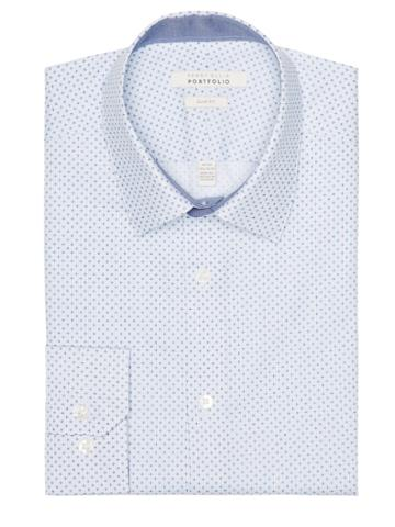 Perry Ellis Slim Fit Graphic Dress Shirt