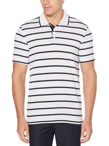 Perry Ellis Mesh Stripe Polo