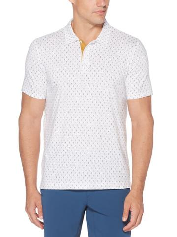 Perry Ellis Pima Cotton Mini Print Polo