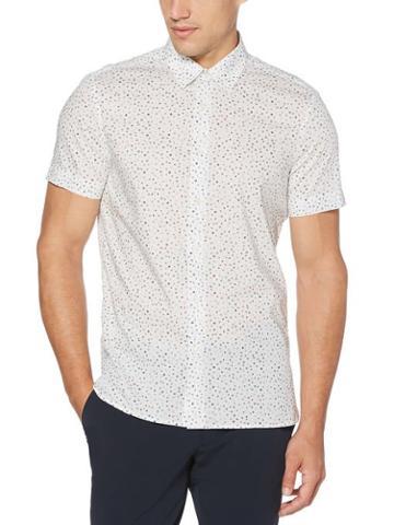 Perry Ellis Slim Fit Geo Print Stretch Shirt
