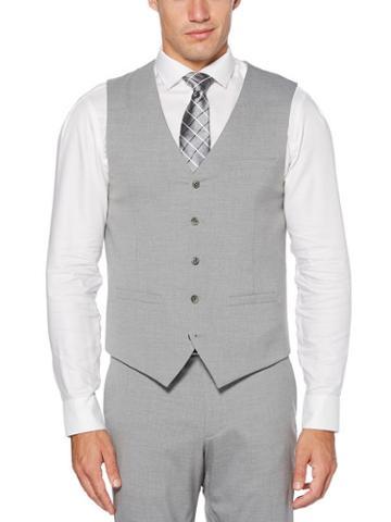 Perry Ellis Modern Fit Heathered Suit Vest