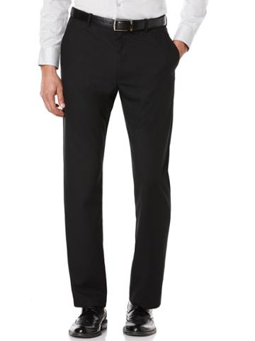 Perry Ellis Big And Tall Solid Bedford Suit Pant