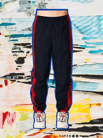 Perry Ellis Crinkle Track Pants