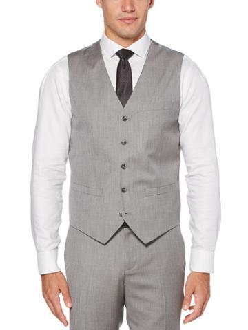 Perry Ellis Slim Fit Herringbone Suit Vest